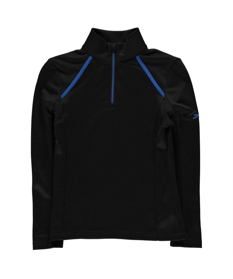 Image for Slazenger Boy Half Zip Fastening Pullover Sweater Jumper Junior Kids Long Sleeve