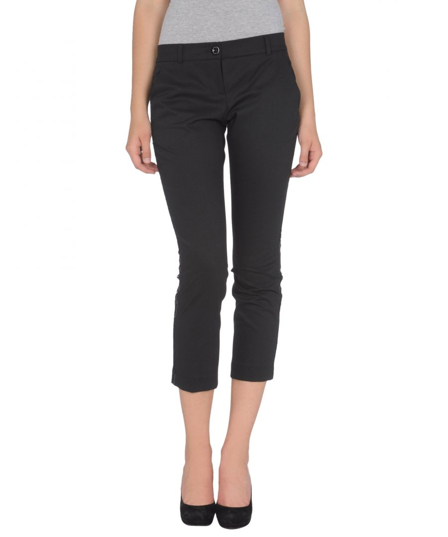 Image for Pinko Black Virgin Wool Cropped Trousers