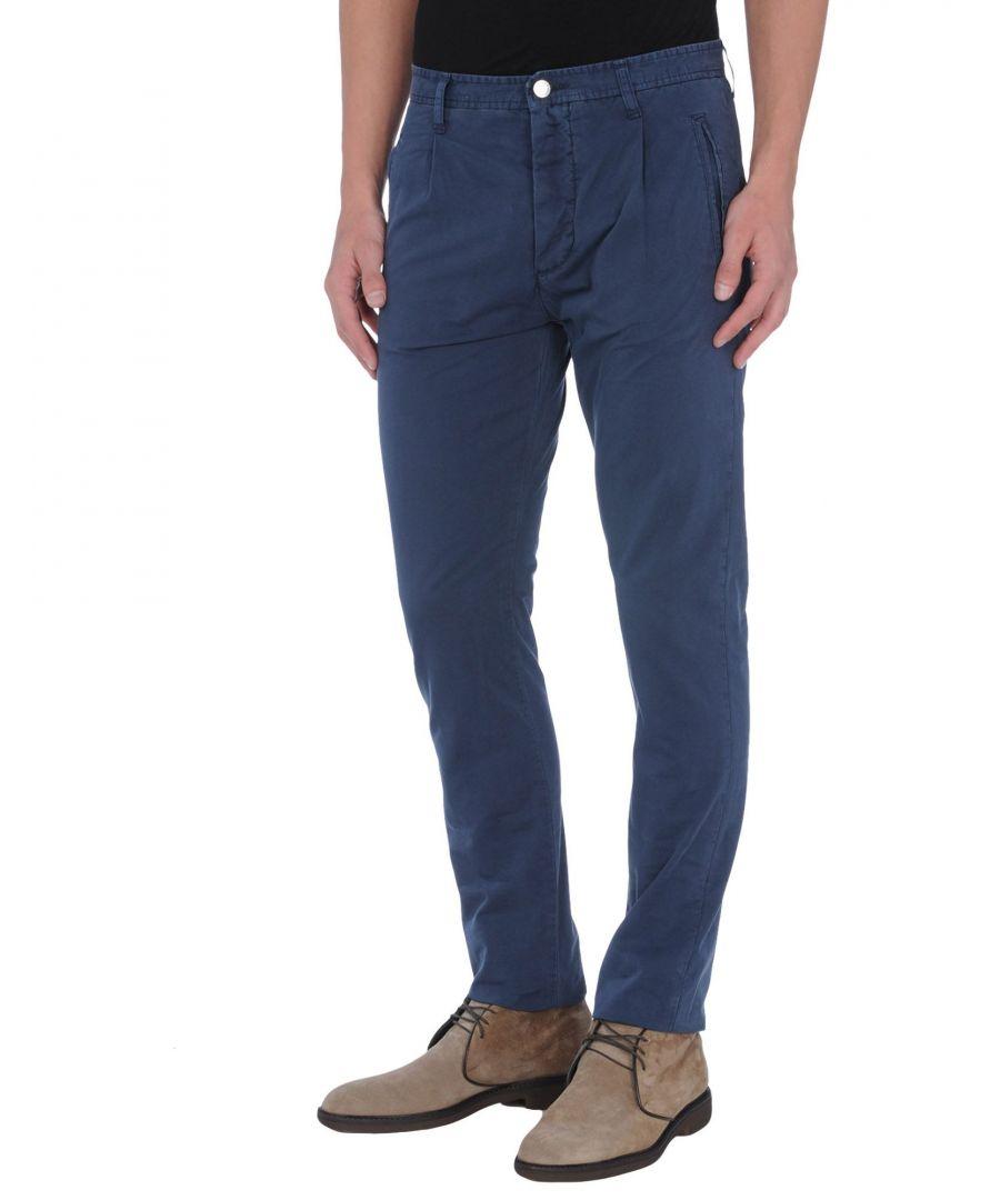 Image for Daniele Alessandrini Dark Blue Cotton Trousers