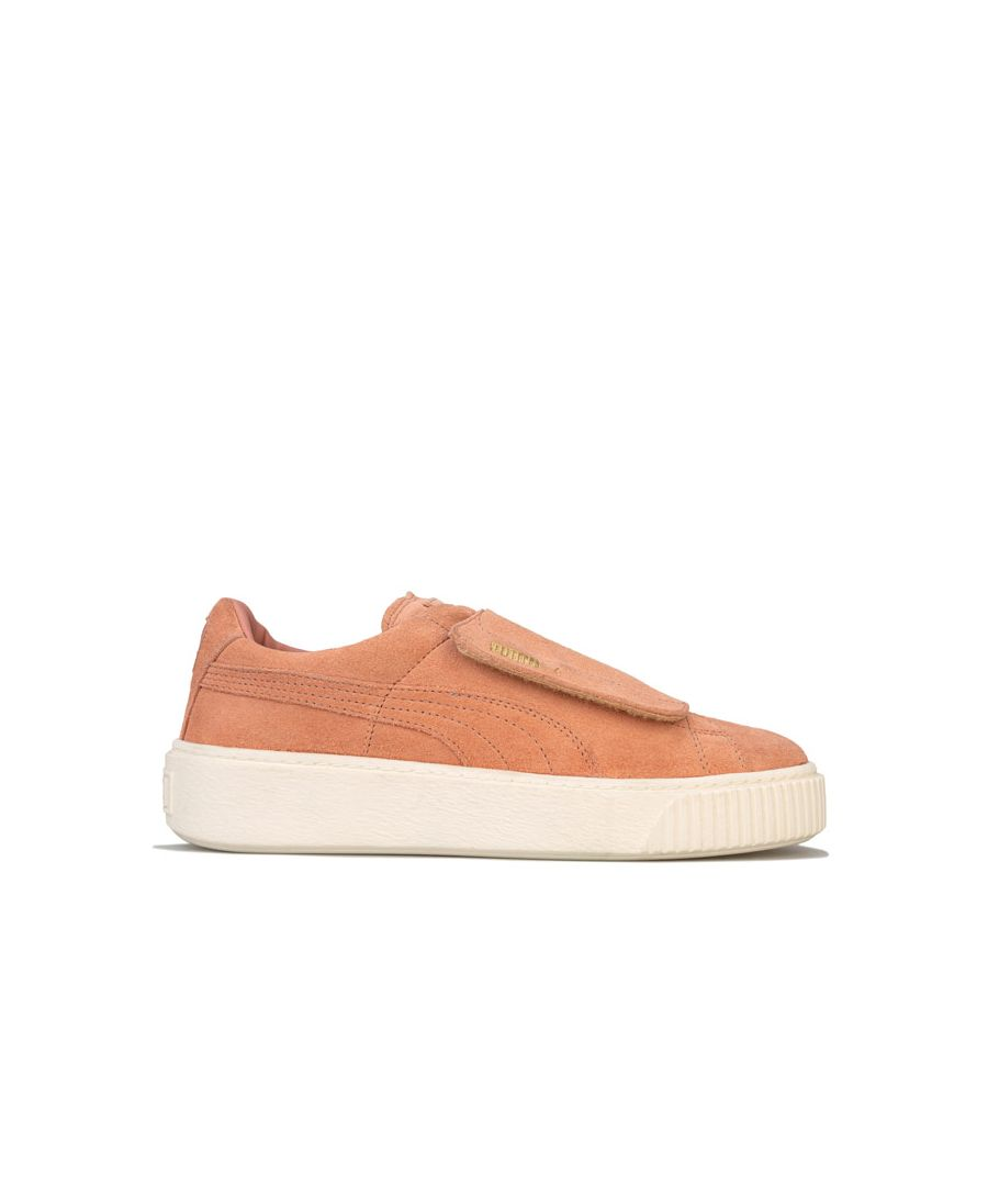 Image for Women's Puma Suede Platform Big Strap Trainers in Pink