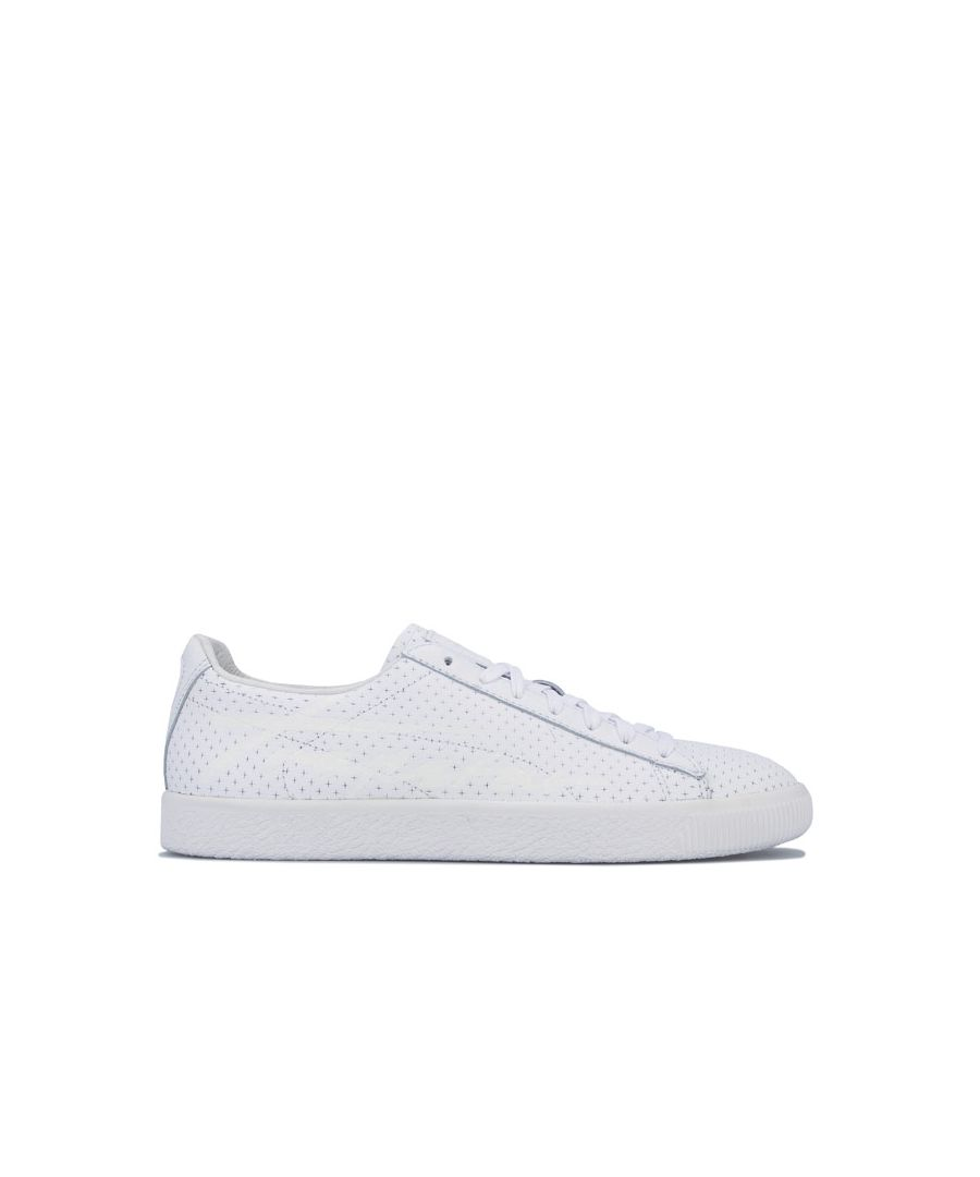 Image for Men's Puma Clyde Perforated Trapstar Trianers in White
