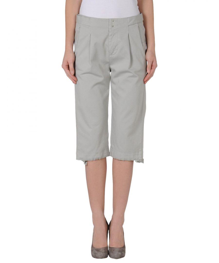 Image for MM6 Maison Margiela Light Grey Cotton Shorts