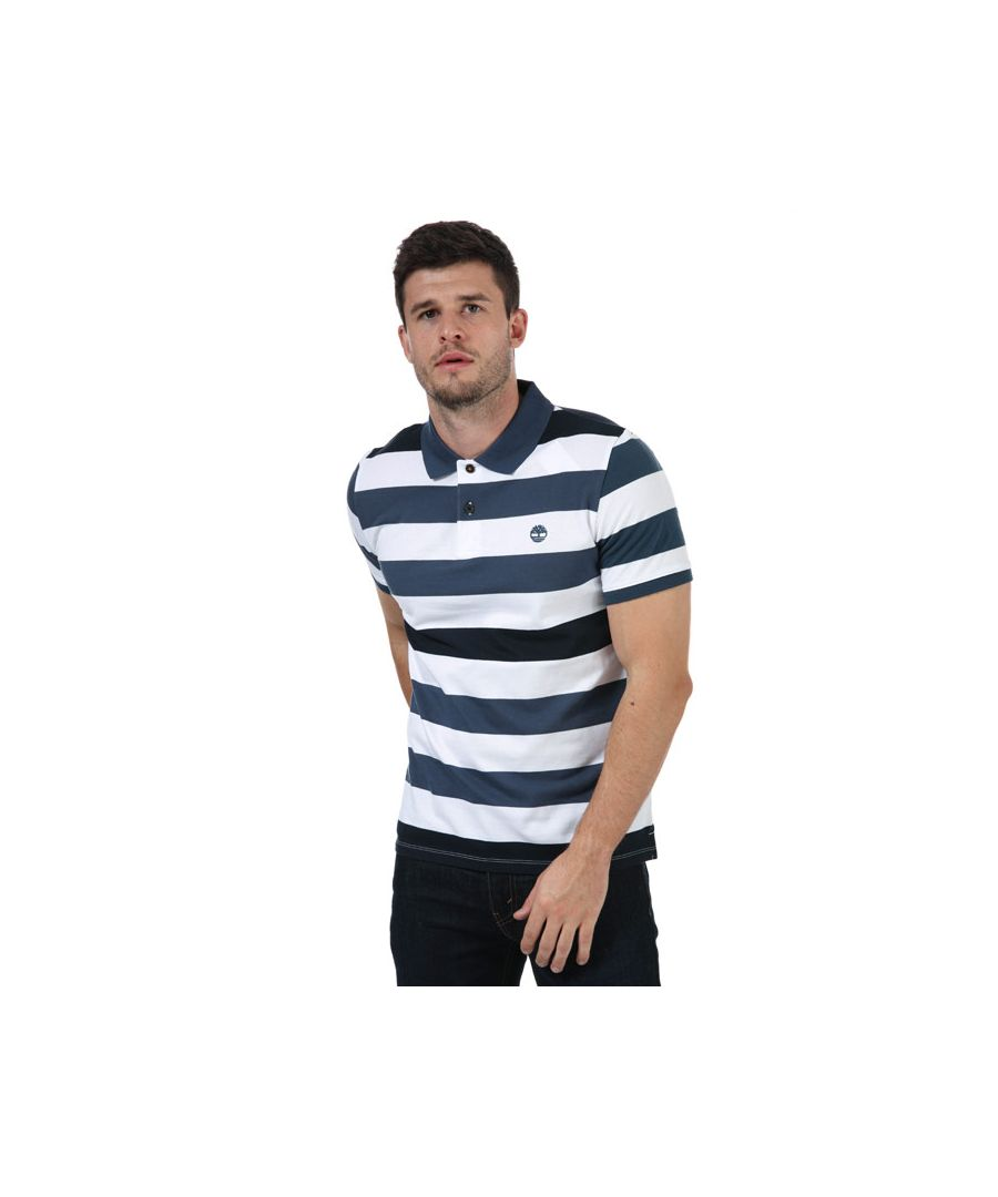 Image for Men's Timberland Stripe Polo Shirt in Denim