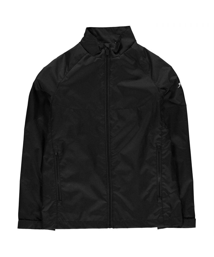 Image for Slazenger Boys Waterproof Jacket Long Sleeve Funnel Neck Zip Top Lightweight