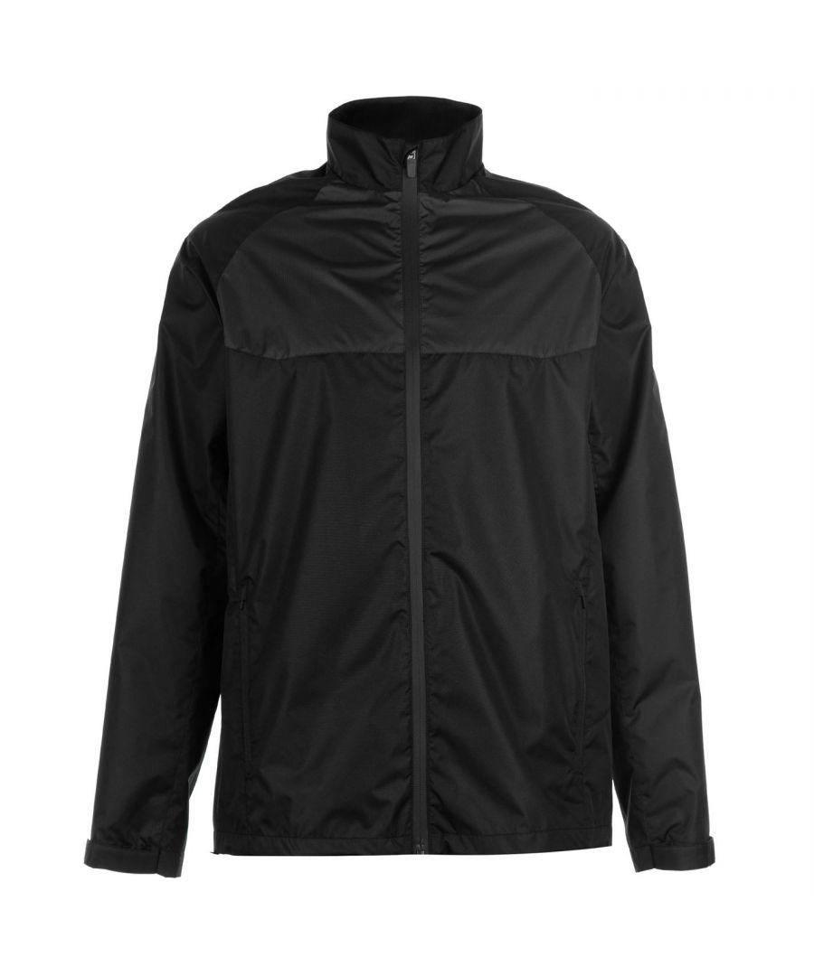 Image for Slazenger Mens Water Resistant Jacket Waterproof Full Zip Long Sleeve Tops