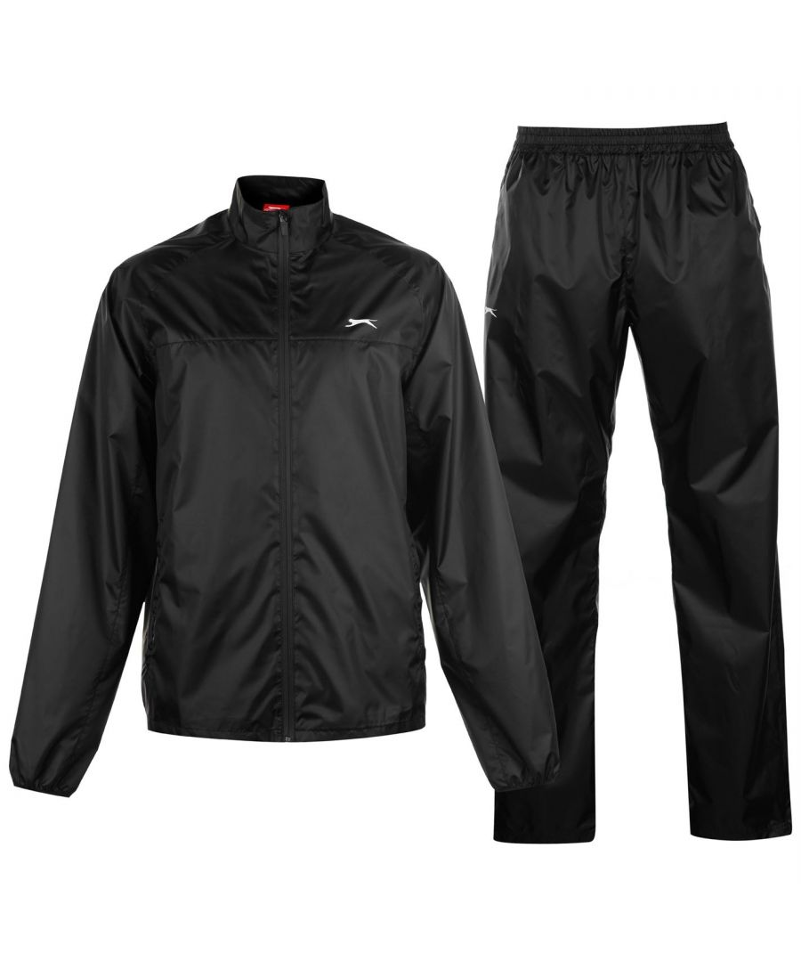 Image for Slazenger Mens Packable Waterproof Suit Elasticated Waistband Pockets Full Zip
