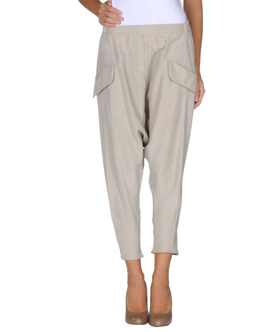 Image for MM6 Maison Margiela Beige Silk Trousers