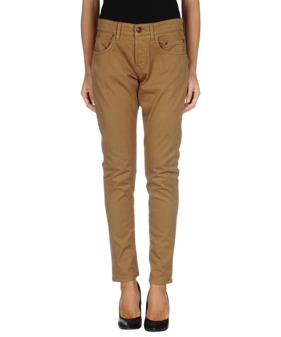 Image for Siviglia Camel Cotton Straight Leg Trousers