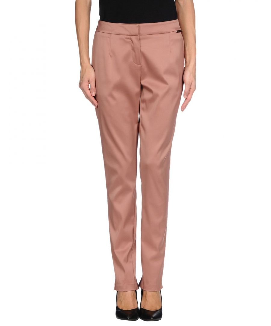 Image for TROUSERS Woman Twinset Pale pink Acetate