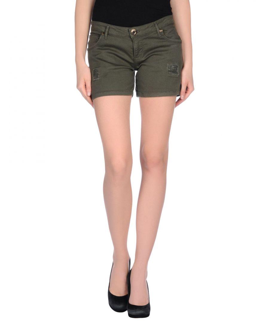 Image for Nenette Women's Shorts Military Green Cotton