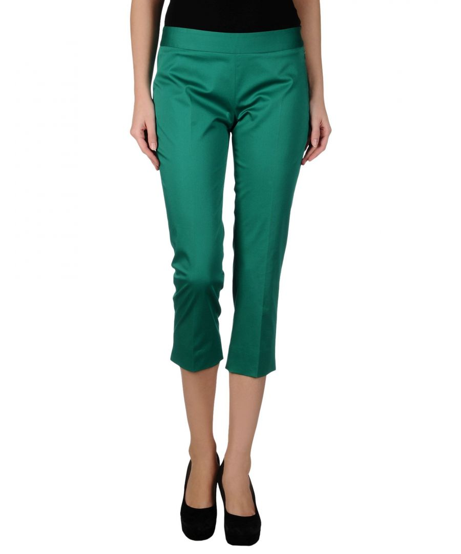 Image for Nenette Woman 3/4-length trousers Green Cotton