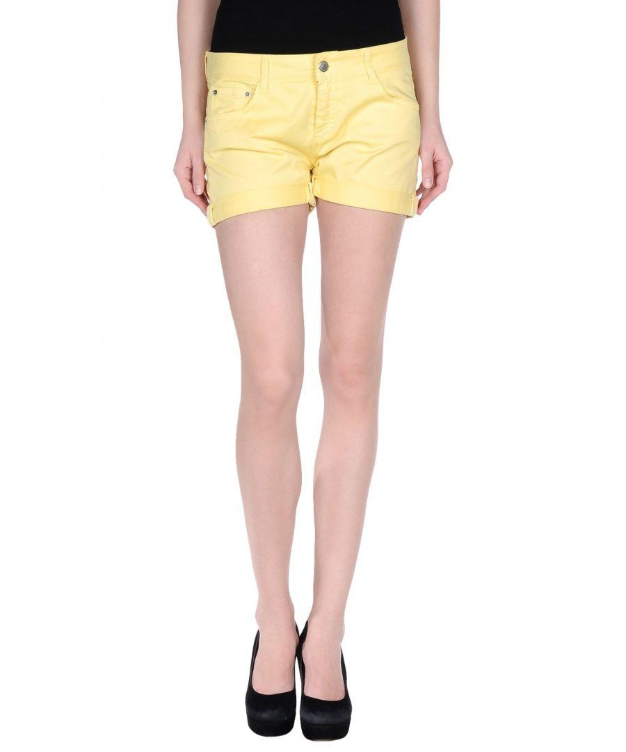 Image for Yellow denim shorts