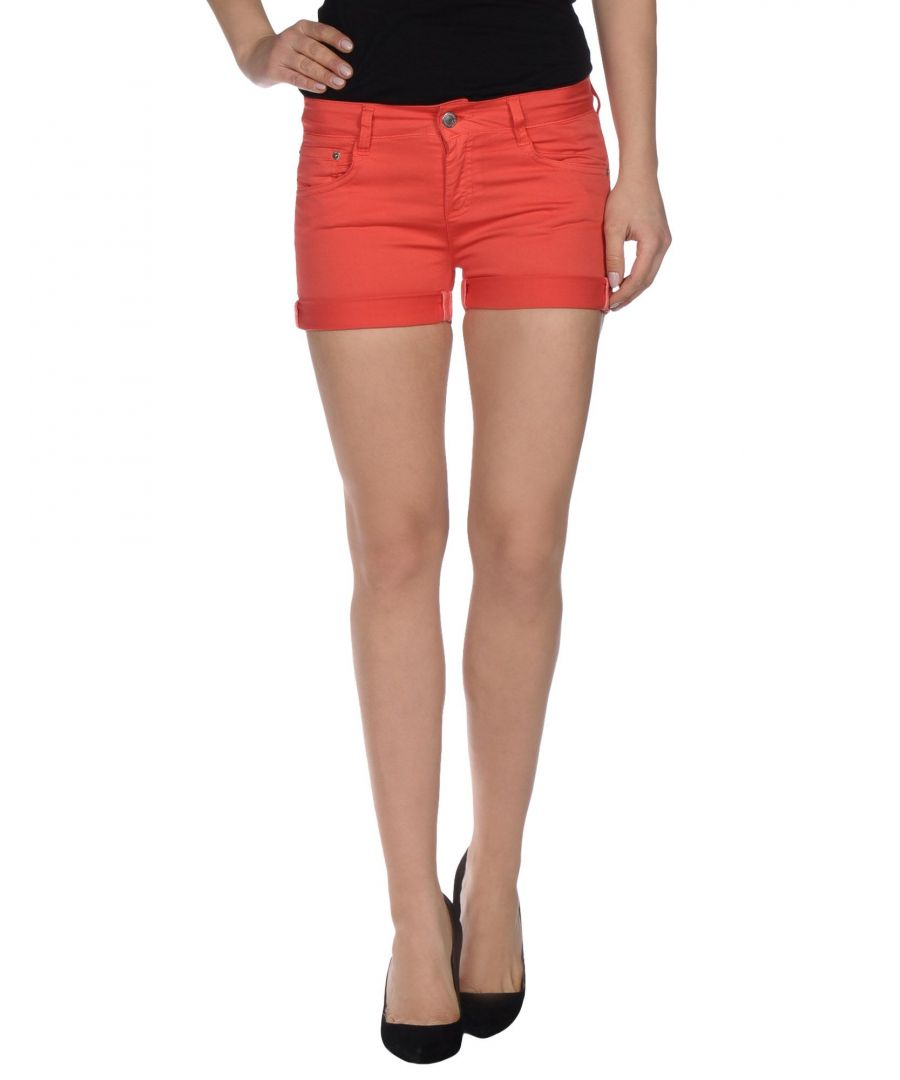 Image for Red denim shorts