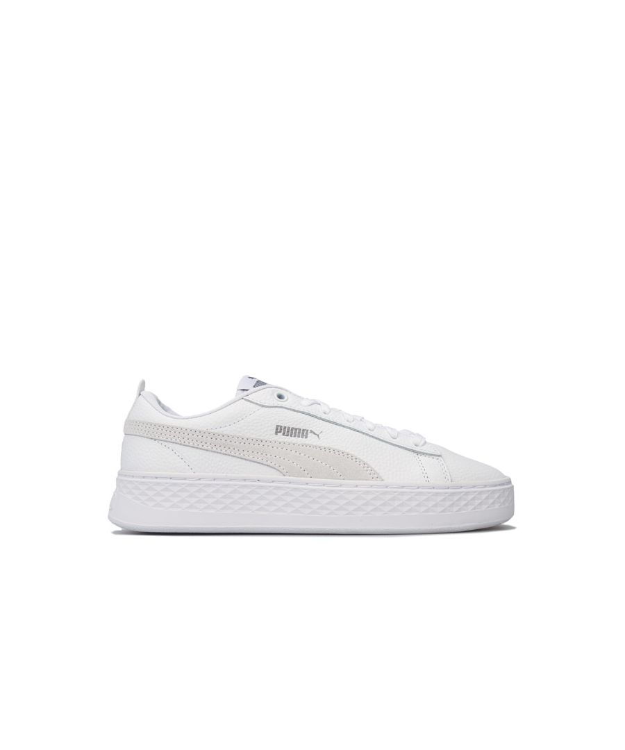 Image for Women's Puma Smash Platform Trainers in White