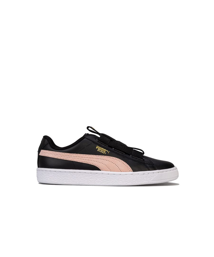 Image for Women's Puma Basket Maze Leather Trainers in Black
