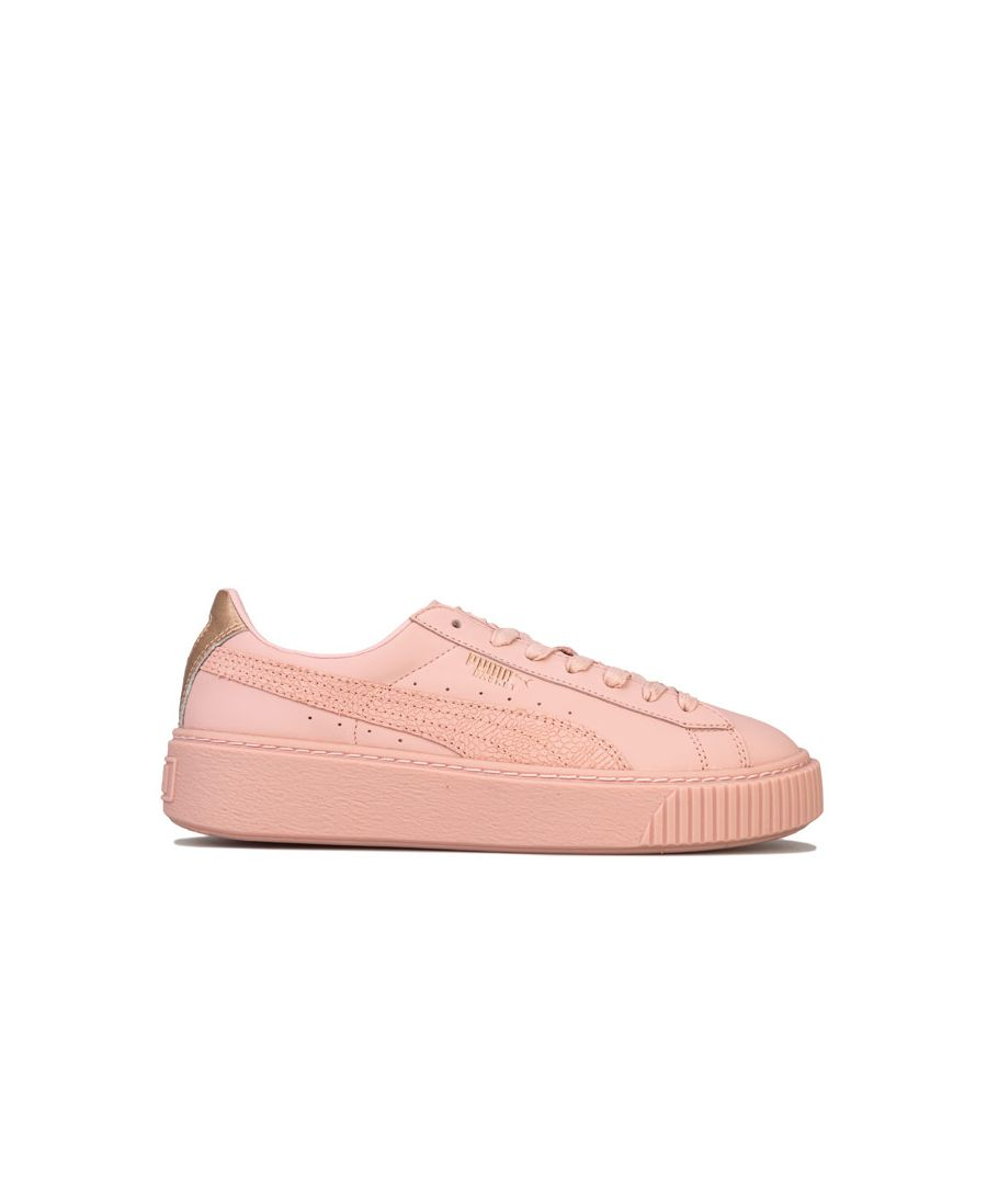 Image for Women's Puma Basket Platform Euphoria RG Trainers in Pink