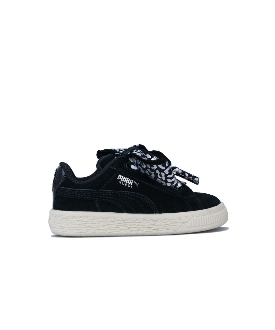 Image for Girl's Puma Infant Suede Ath Luxe Trainers in Black