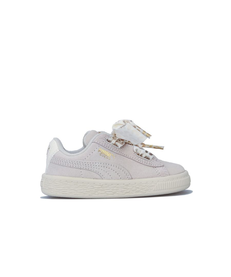 Image for Girl's Puma Infant Suede Ath Luxe Trainers in Off White