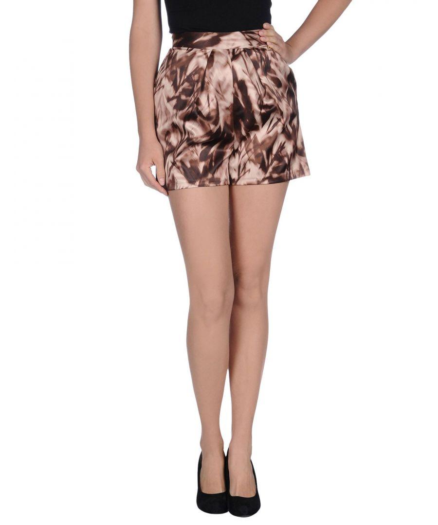 Image for Elisabetta Franchi Beige Satin High Waisted Shorts