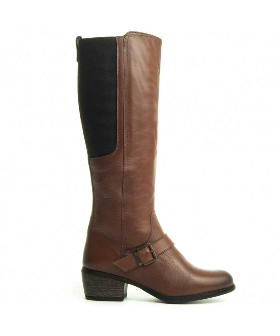 Image for Purapiel Cowbaby Heeled Boot in Brown