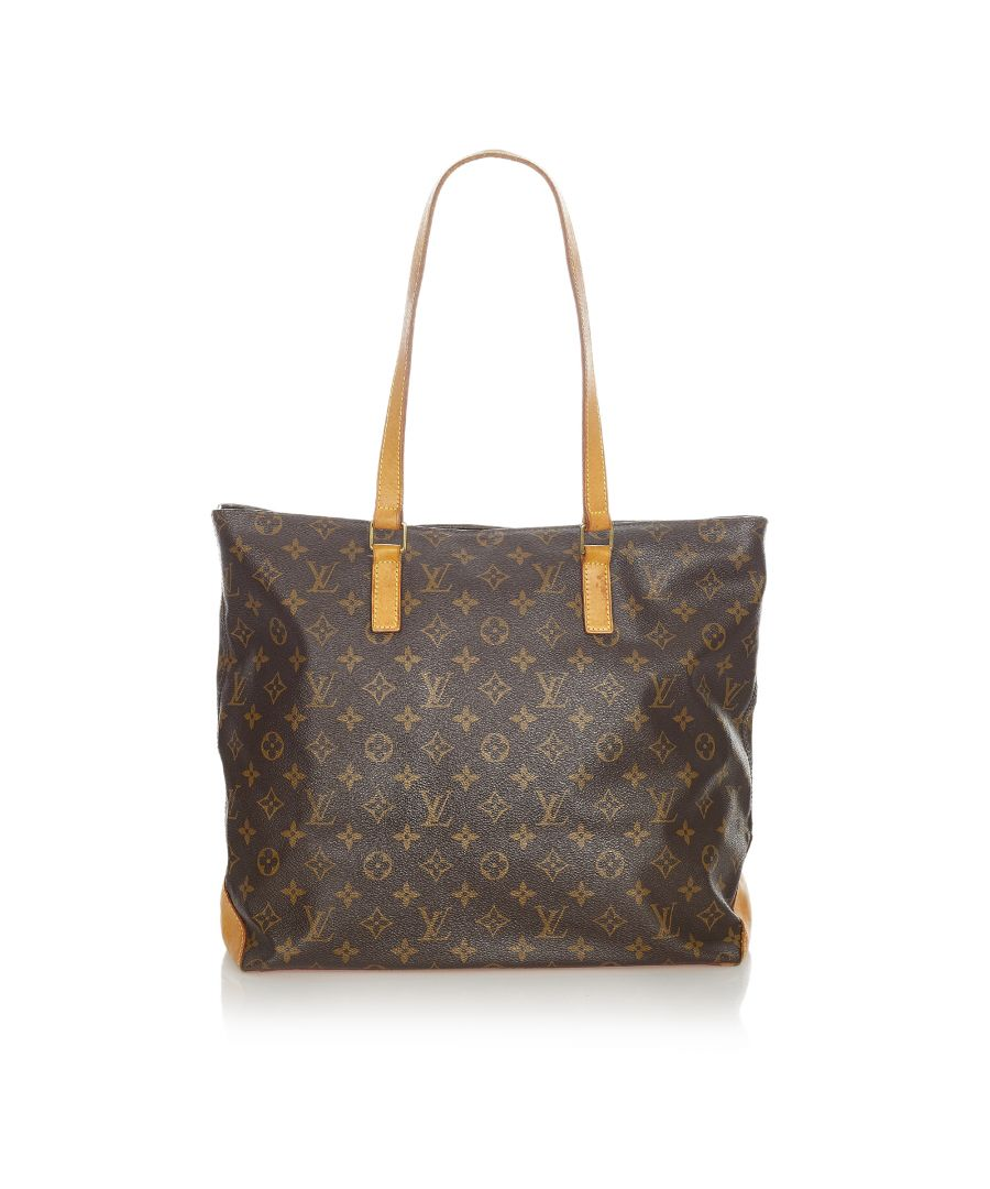 Image for Vintage Louis Vuitton Monogram Cabas Mezzo Brown