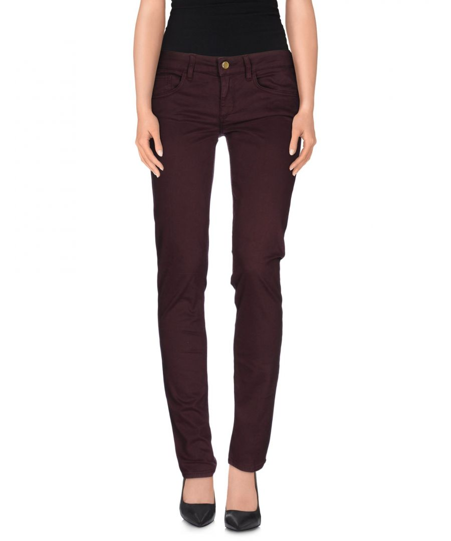 Image for Liu Jo Deep Purple Cotton Trousers