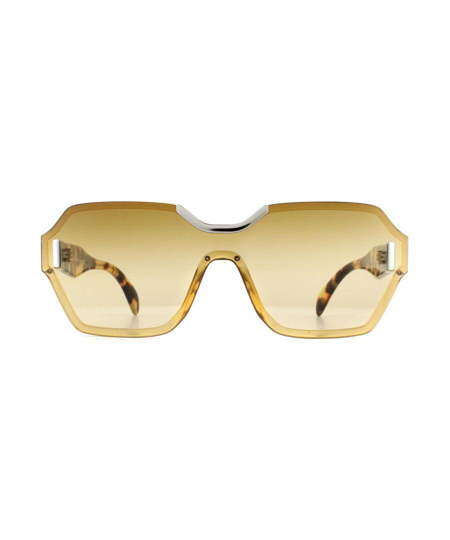 Image for Prada Sunglasses 15TS VIR1G0 Beige Light Yellow Gradient