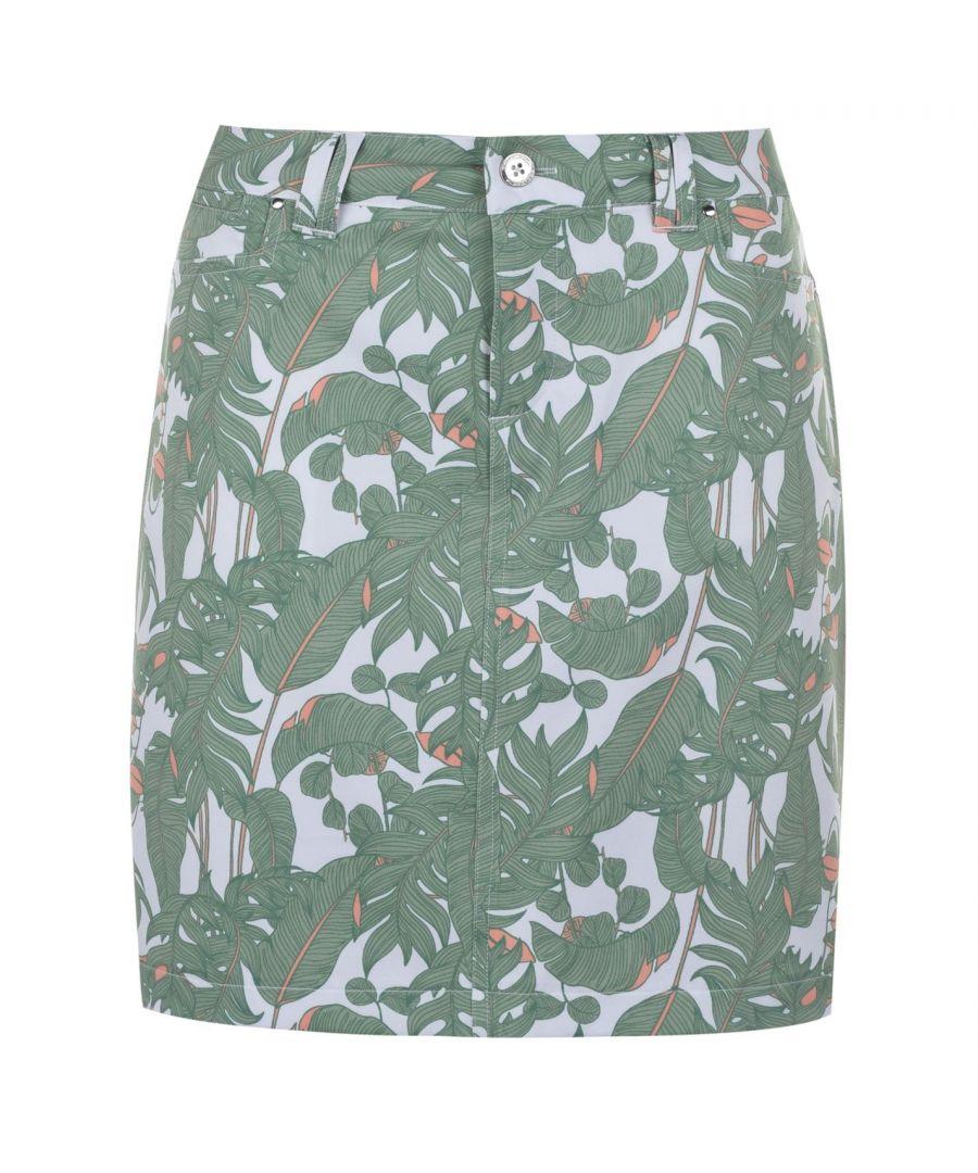 Image for Slazenger Womens Pattern Skort Tight Under Shorts Loose Skirt Lightweight Bottom