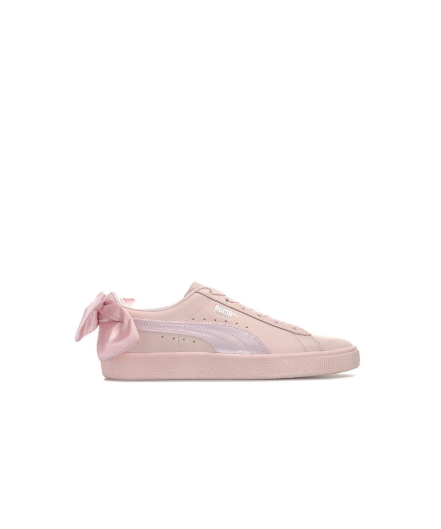 Image for Women's Puma Basket Bow Trainers in Pink