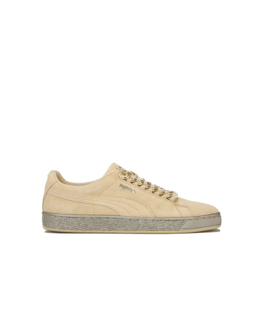 Image for Men's Puma Suede Classic X-Chains Trainers in Gold