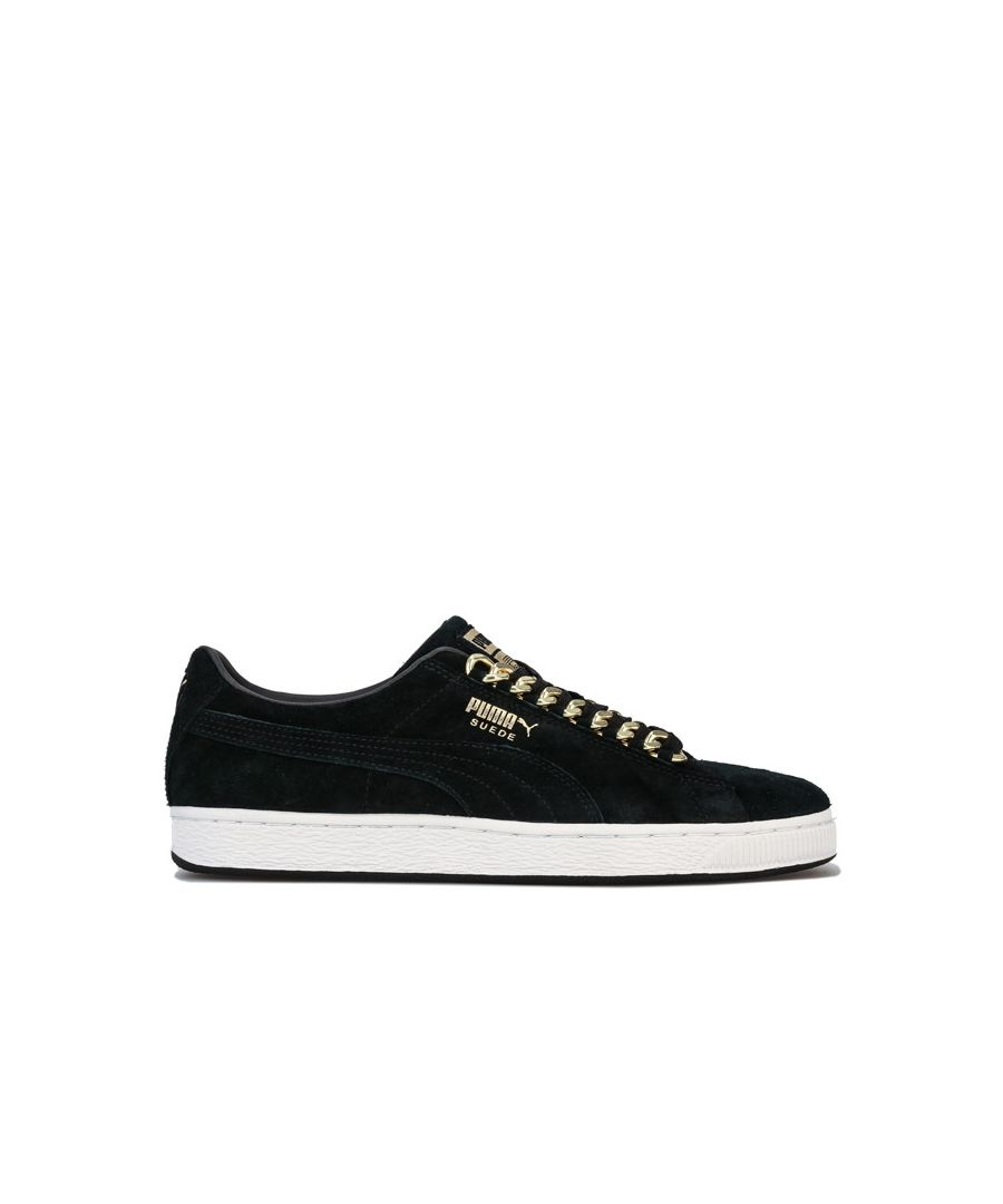 Image for Men's Puma Suede Classic x Chain Trainers in Black Gold