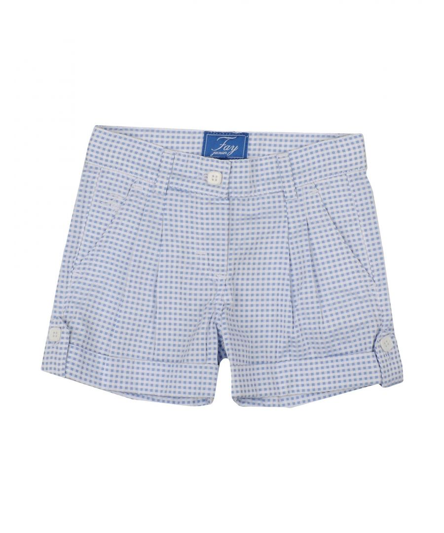Image for Fay Sky blue Girl Polyester Shorts