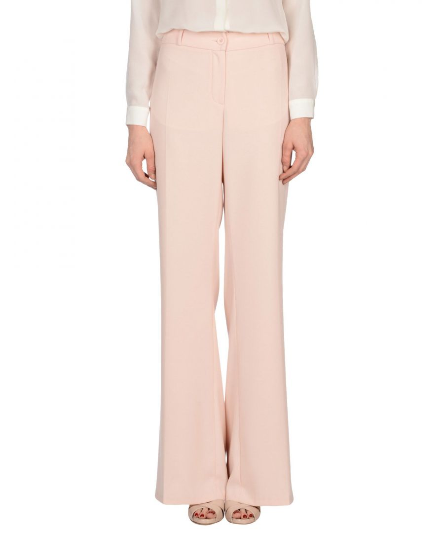 Image for Nenette Light Pink Crepe Straight Leg Trousers