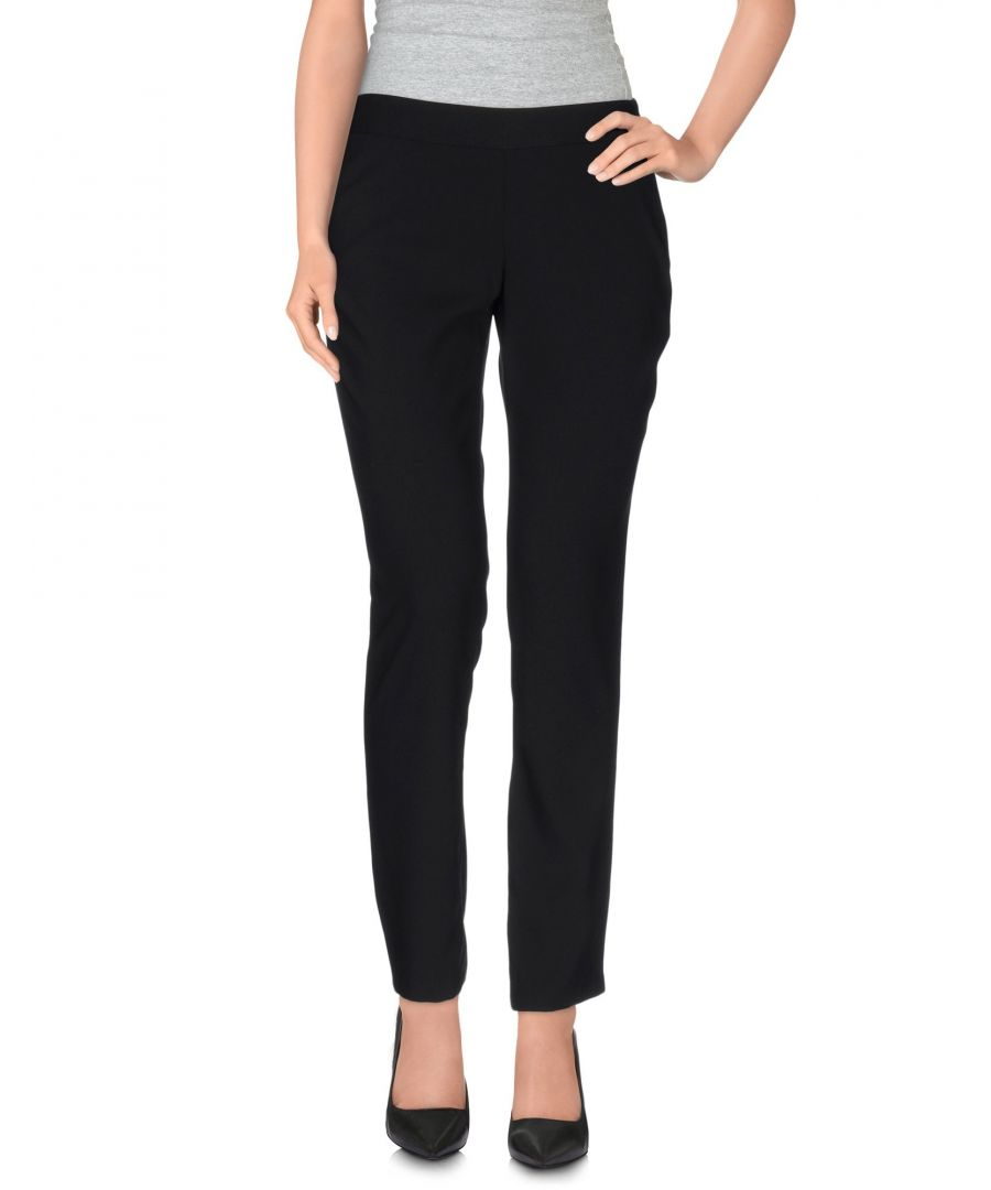Image for Nenette Black Crepe Straight Leg Trousers