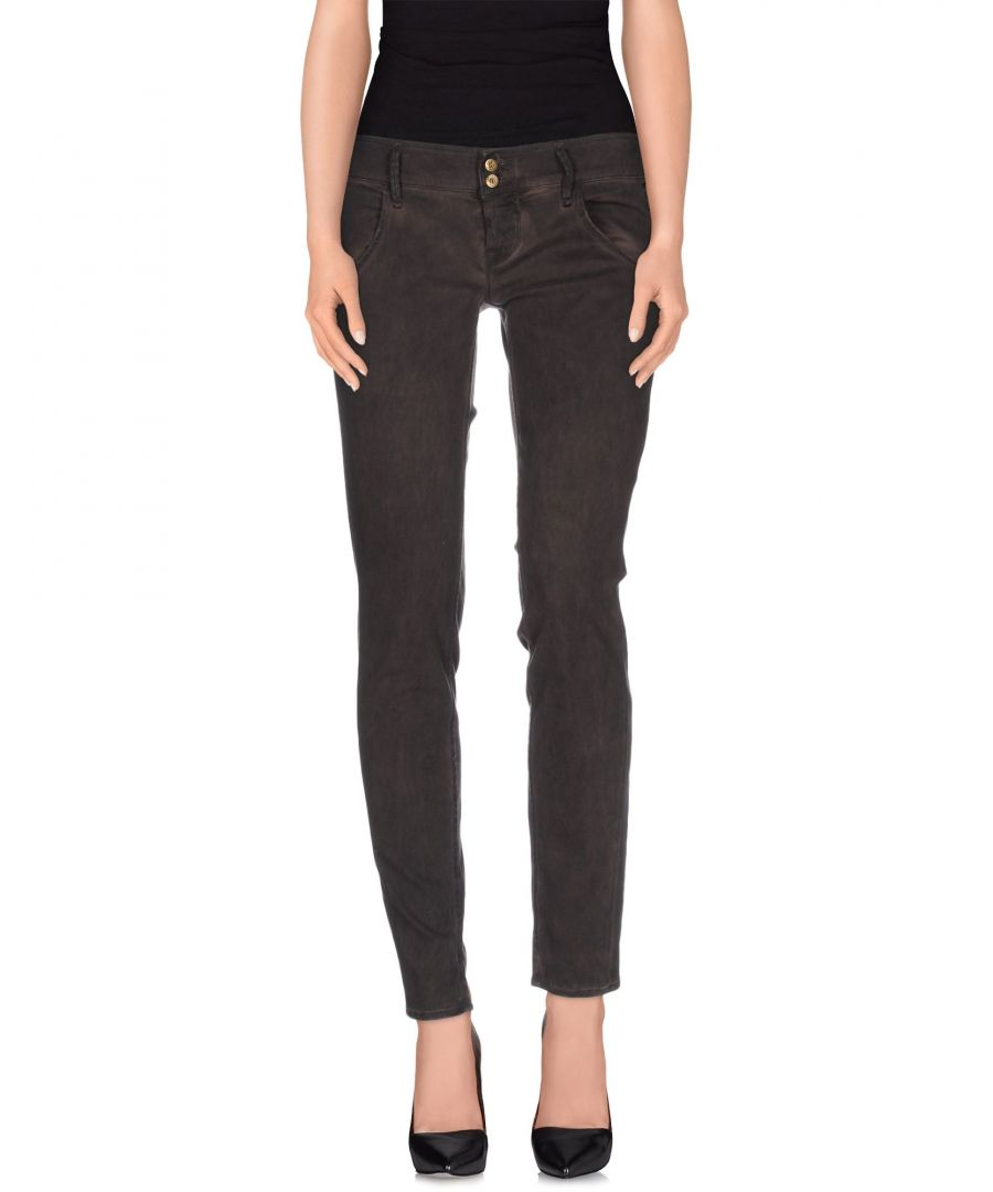Image for Cycle Dark Brown Cotton Tapered Leg Trousers