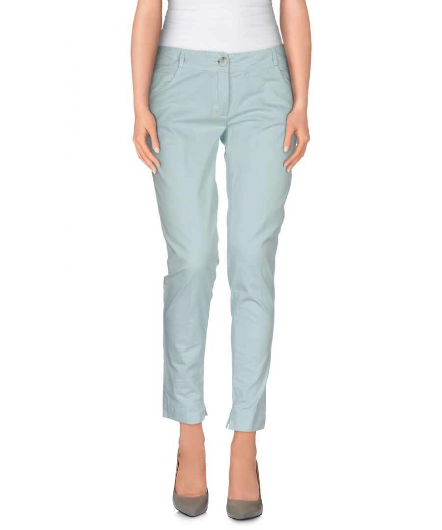 Image for Manila Grace Denim Sky Blue Cotton Trousers
