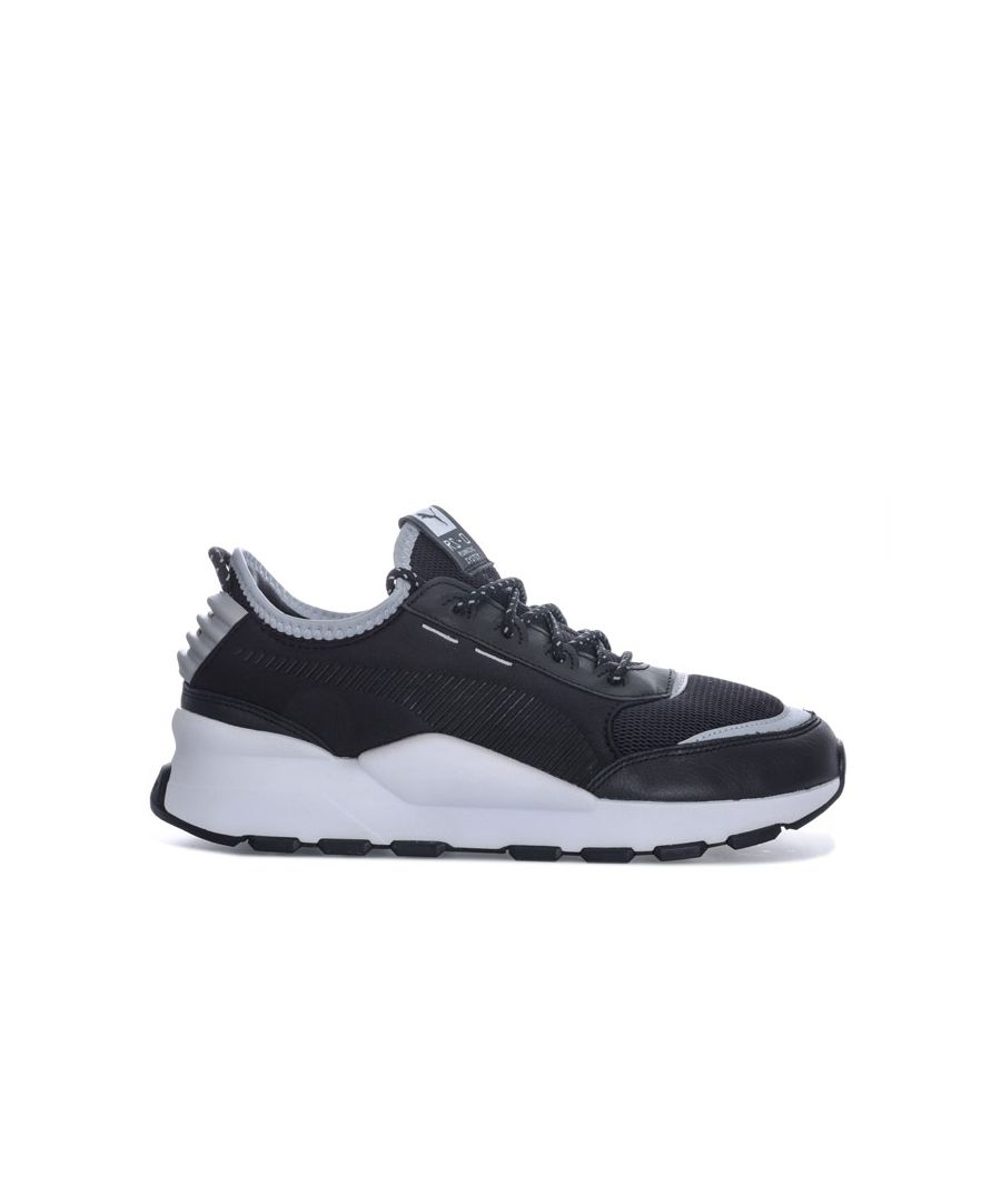 Image for Women's Puma RS-0 Optic Pop Trainers in Black Silver