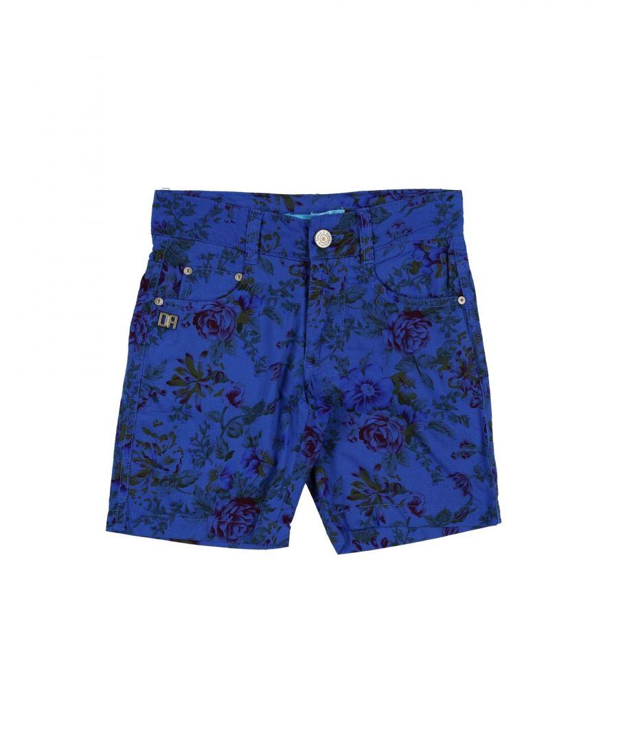 Image for Daniele Alessandrini Blue Boy Cotton Shorts
