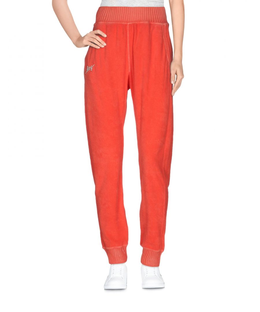 Image for Dsquared2 Red Cotton Terry Tapered Leg Joggers