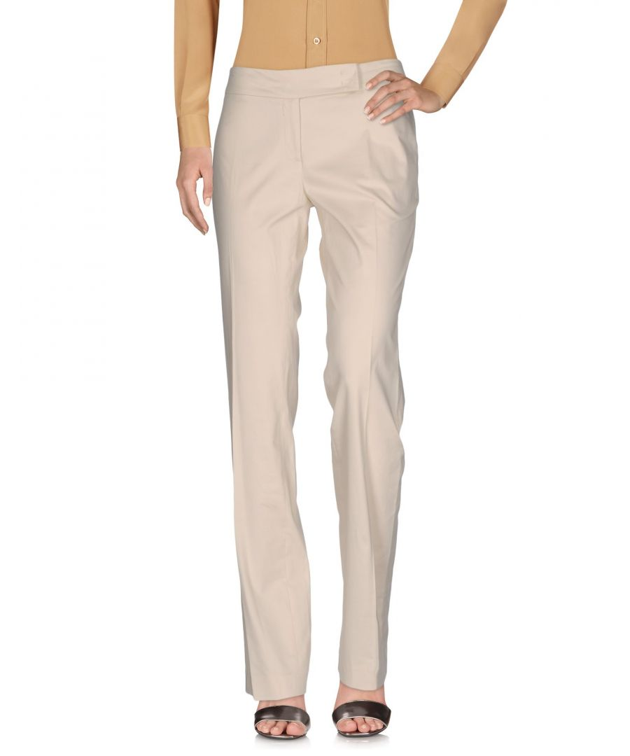 Image for Seventy Sergio Tegon Ivory Cotton Trousers
