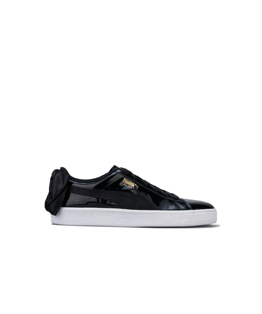 Image for Women's Puma Basket Bow SB Trainers in Black-White