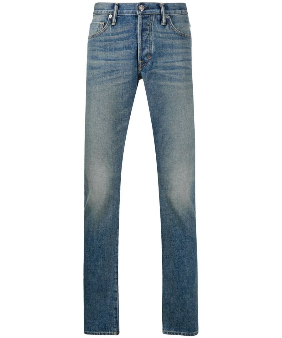 Image for TOM FORD MEN'S BUJ31TFD001B20 BLUE COTTON JEANS