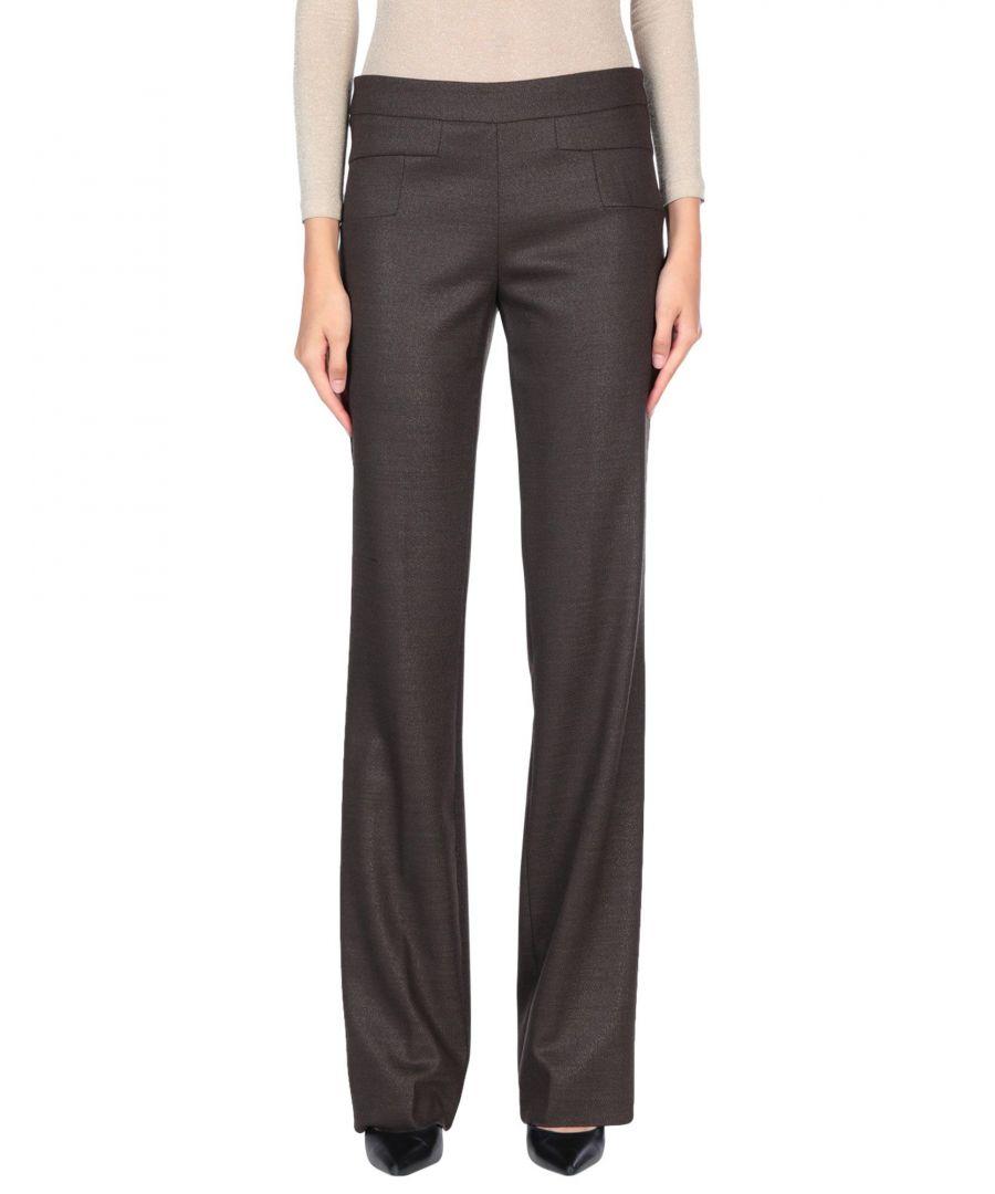 Image for Blumarine Dark Brown Virgin Wool Tailored Trousers