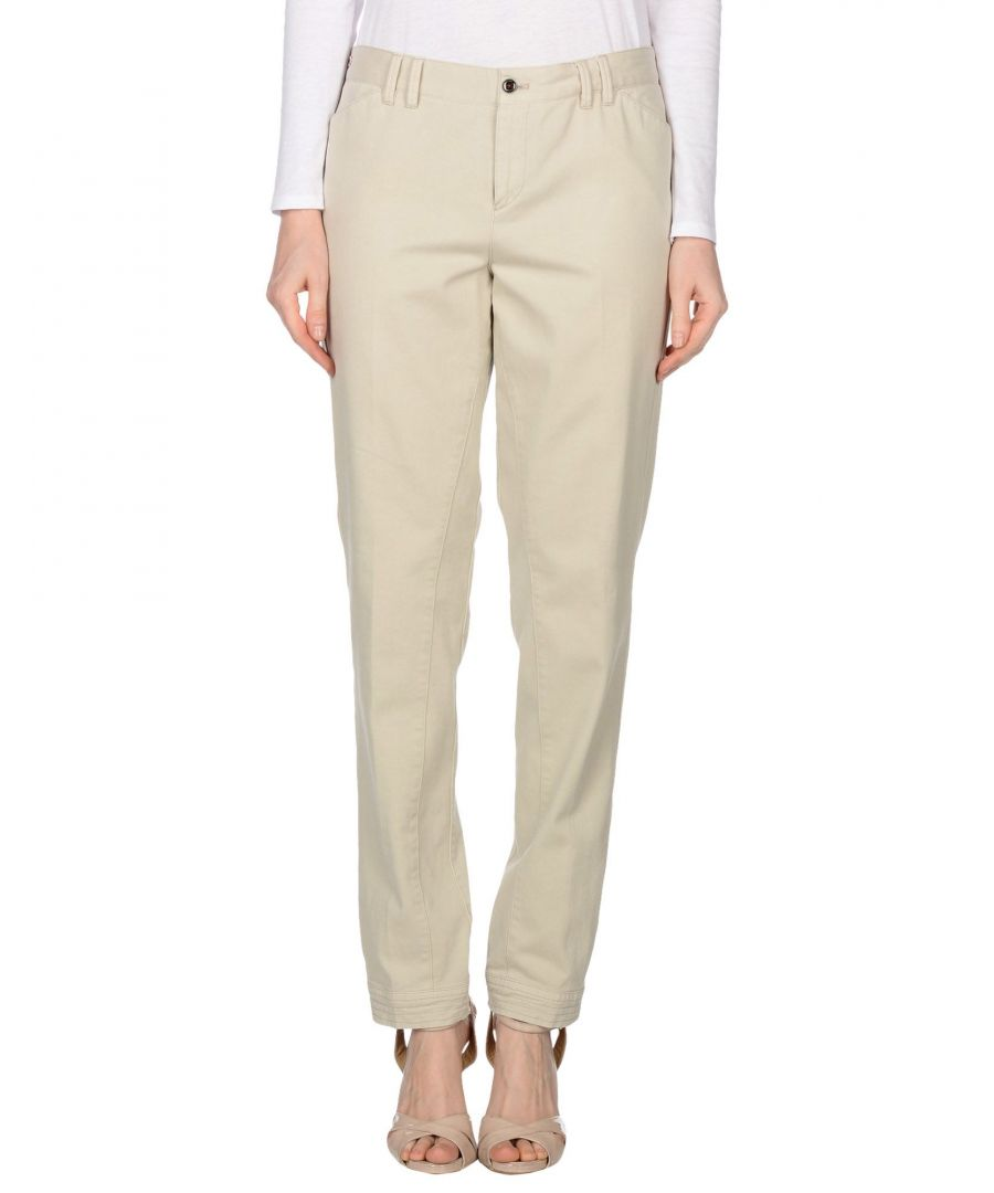 Image for Pt01 Ivory Cotton Trousers