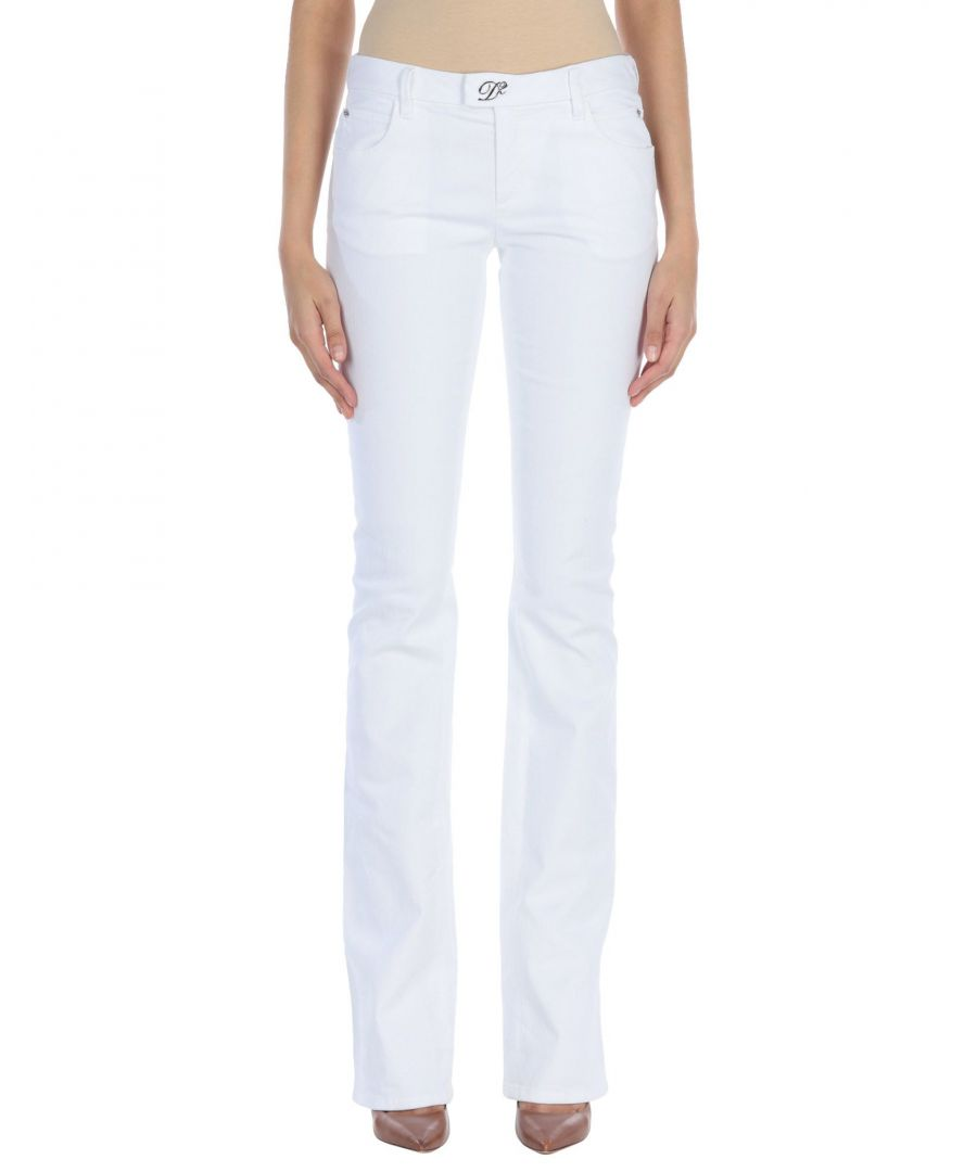 Image for Dsquared2 White Cotton Bootcut Jeans