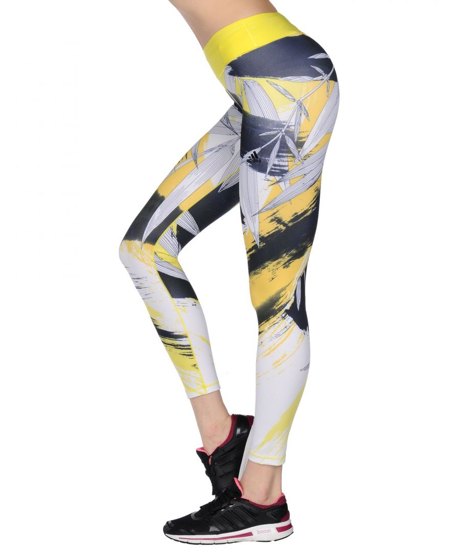 Image for Adidas Dark blue, Yellow Recycled polyester Leggings