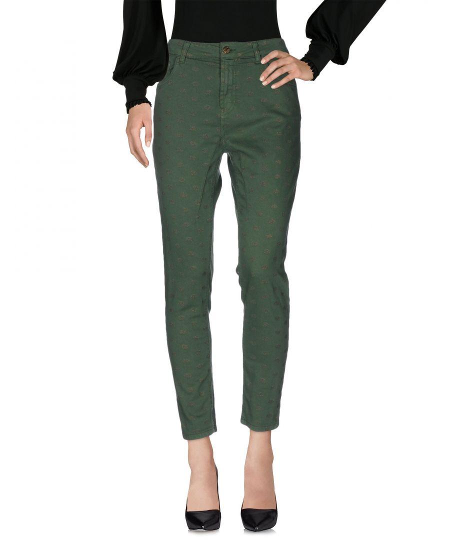 Image for TROUSERS Manila Grace Denim Green Woman Cotton