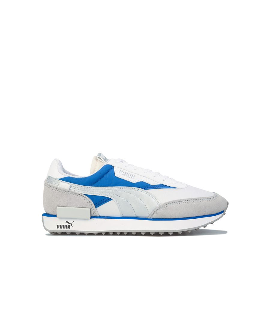 Image for Men's Puma Future Rider Varsity Trainers in Blue-White