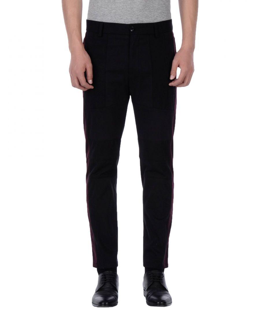 Image for Dolce & Gabbana Black Cotton Straight Leg Trousers