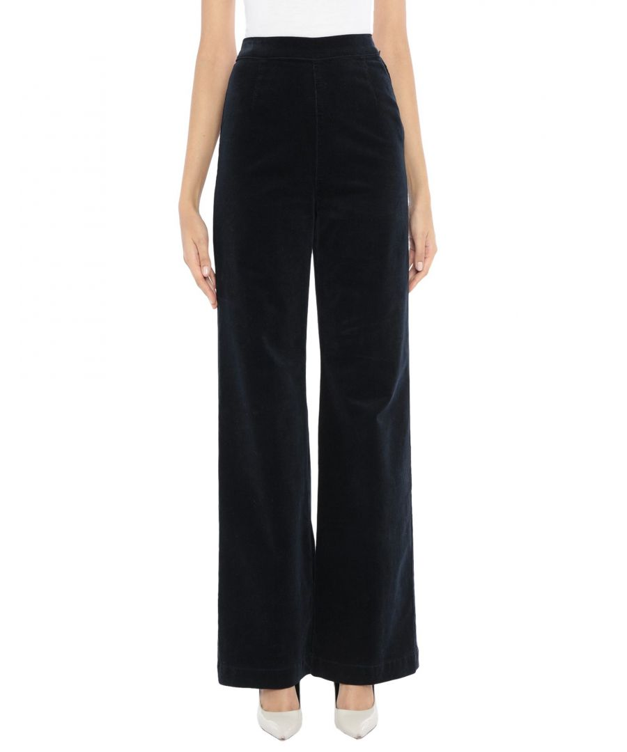 Image for Alexachung For Ag Jeans Dark Blue Cotton High Waisted Wide Leg Trousers